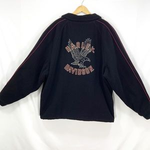 Harley Davidson 3XL Wool Jacket Quilted Lined CL37